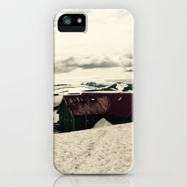 Mountain hut in Iceland iPhone Case