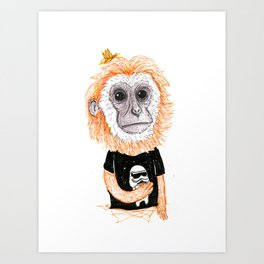 Dark Monkey  Art Print