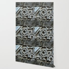 Medieval Carved Stone Wall Wallpaper