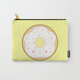 Yummy white kawaii doughnut Carry-All Pouch