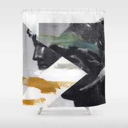 Untitled (Painted Composition 2) Shower Curtain