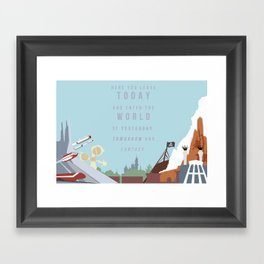 "Minimalist Magic-""Leave Today"" DAY Framed Art Print"