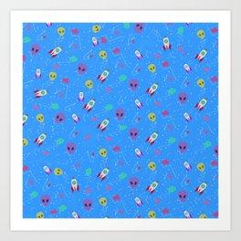 Space Pattern Art Print