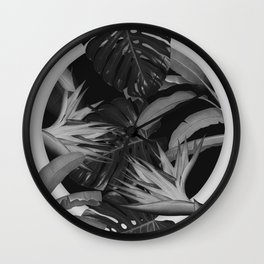 White Circle in Black Forest Wall Clock