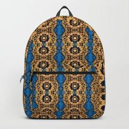 Beautiful Striped Beadwork Print Backpack