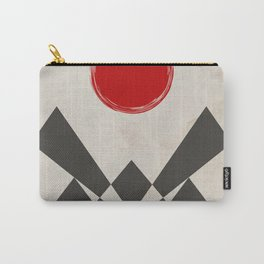 Grunge red sun Carry-All Pouch