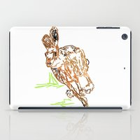 hare iPad Cases featuring Hare by Simon Boulton