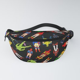 Superhero Butts Pattern (Dark) Fanny Pack