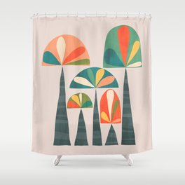 Quirky retro palm trees Shower Curtain