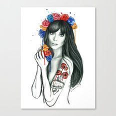 tattoo girl Canvas Print