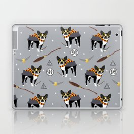 Boston Terrier witch wizard dog pattern gifts Laptop & iPad Skin