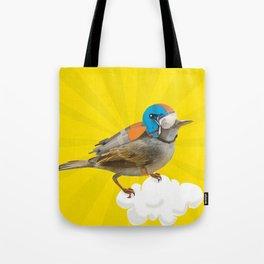 Little bird on little cloud Tote Bag
