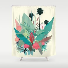 P A L M S P R I N G S Shower Curtain