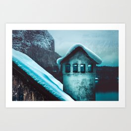 Winter chimney Art Print
