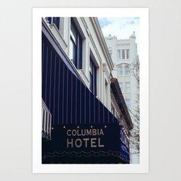 Columbia Hotel - Ashland, OR Art Print