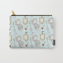 Bathroom Pattern Carry-All Pouch