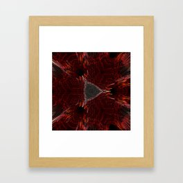 Red and black abstract digital background Framed Art Print