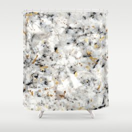Classic Marble with Gold Specks Shower Curtain