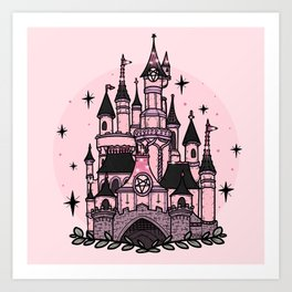 The Magical Goth Castle Art Print