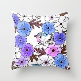 Cute bird 025 Throw Pillow