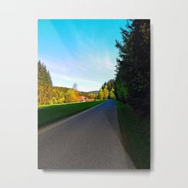 Country road on a spring afternoon | landscape photography Metal Print