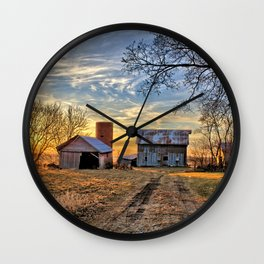 Kipling Barn Sunset 2 Wall Clock
