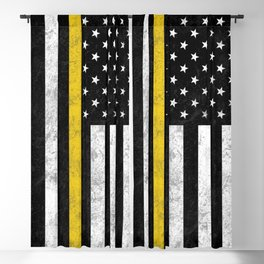 Thin Gold Line Blackout Curtain