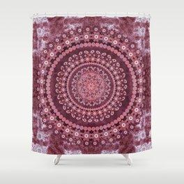 Boho Rosewood Mandala Shower Curtain