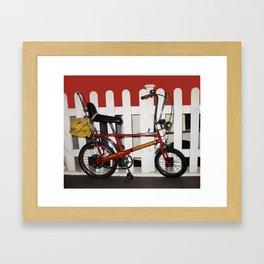 Red Bike Vintage chopper 1970  Framed Art Print