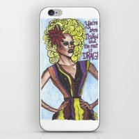 """rupaul iPhone & iPod Skins featuring RuPaul; """"You're Born Naked, And The Rest Is Drag!"""" by DetRiotGirl"""