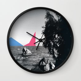 Cannes at the sea Wall Clock