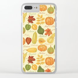 Gourds and Pumpkins Clear iPhone Case