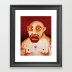 Los tattoos del sombra Framed Art Print