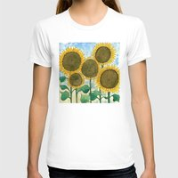 sunflowers T-shirts featuring Sunflowers by Holly Fisher@SpenceCreative
