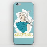 daenerys iPhone & iPod Skins featuring Danny by JessicaJaneIllustration