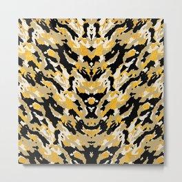 Metallic Camo - Stylish Camouflage Gold Pattern Metal Print