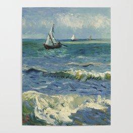 The Sea at Les Saintes-Maries-de-la-Mer by Vincent van Gogh Poster