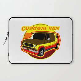 Groovy Custom Van 1970s Design Laptop Sleeve