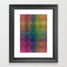 Zigzag & Zigzag 2 Framed Art Print