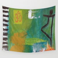yoga Wall Tapestries featuring YOGA by Prema Designs