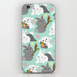 Tiny Tails: Fluffy Bunnies iPhone Skin