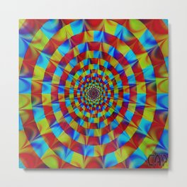 ZOOM #1 Vibrant Psychedelic Optical Illusion Metal Print