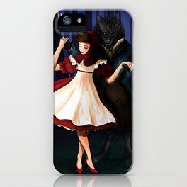 A Dangerous Dance, Red Hood And The Wolf iPhone Case