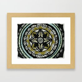 Four Golding Mandala Framed Art Print