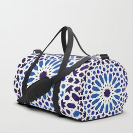 V19 Epic Light Blue Traditional Moroccan Pattern Design . Duffle Bag