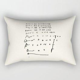 Don't Be Distracted Rectangular Pillow