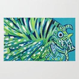 Lion Fish 1, a pretty predator Rug