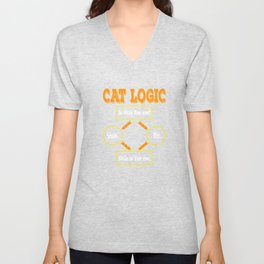 Having difficulty in deciding when it comes to cats? That's Cat Logic! Grab this awesome tee now! Unisex V-Neck