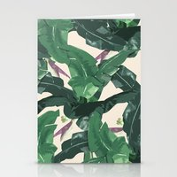 banana leaf Stationery Cards featuring Banana Leaf Pattern by Tamsin Lucie