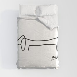 Pablo Picasso Dog (Lump) Artwork Shirt, Sketch Reproduction Comforters